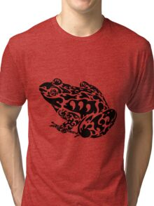 Tribal Frog Tri-blend T-Shirt