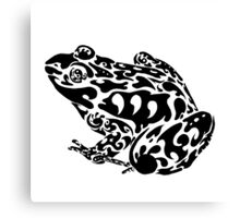 Tribal Frog Canvas Print