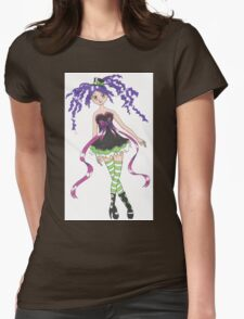 Pretty Anime Girl Womens Fitted T-Shirt