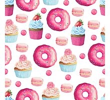 Pink Strawberry Sweets & Treats Photographic Print