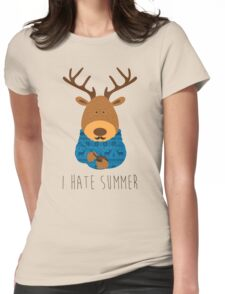 I hate summer Womens Fitted T-Shirt