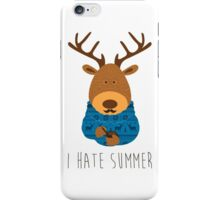 I hate summer iPhone Case/Skin
