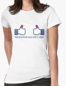 The Mountain likes this! Womens Fitted T-Shirt