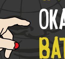 World's okayest batman funny cartoon cool retro funny shirts and clothing design Sticker