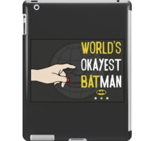 World's okayest batman funny cartoon cool retro funny shirts and clothing design iPad Case/Skin