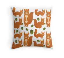 Red Squirrels Throw Pillow