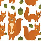 Red Squirrels by EkaterinaP