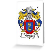 Navarro Coat of Arms/Family Crest Greeting Card