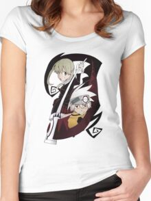 Soul and Maka Women's Fitted Scoop T-Shirt