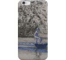 Blue boys fishing iPhone Case/Skin