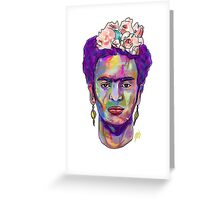 Kahlo The Artist Greeting Card