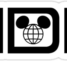 WDWWideBlack Sticker