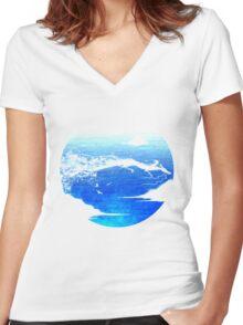 River Spirit Women's Fitted V-Neck T-Shirt
