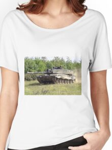 British Army Challenger 2 Main Battle Tank Women's Relaxed Fit T-Shirt