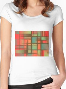 Awesome Colorful Abstract pattern Women's Fitted Scoop T-Shirt