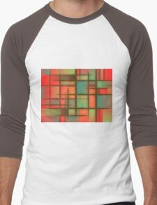 Awesome Colorful Abstract pattern Men's Baseball ¾ T-Shirt