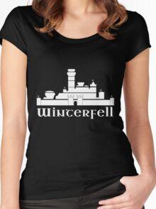 Castle of Winterfell Women's Fitted Scoop T-Shirt