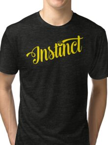 Team Instinct: Yellow Typography Tri-blend T-Shirt