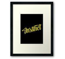 Team Instinct: Yellow Typography Framed Print