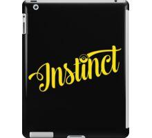Team Instinct: Yellow Typography iPad Case/Skin