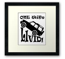 One Life Live It (Parody) Framed Print