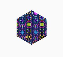Colorful Retro Geometric Pattern  Unisex T-Shirt