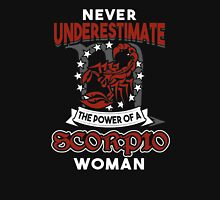 Never Underestimate A Scorpio Womens Fitted T-Shirt