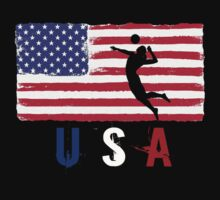 USA Volleyball 2016 competition beach volley funny t-shirt Baby Tee