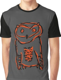 Owl Print - Hoot Hoot Graphic T-Shirt