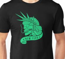 New York - Statue of Libery Skull (no background) Unisex T-Shirt