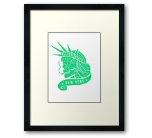 New York - Statue of Libery Skull (no background) Framed Print
