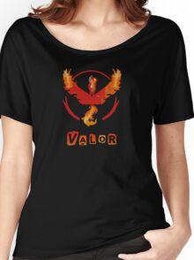 Pokemon GO: Team Valor (Fire Design) - Red Team Women's Relaxed Fit T-Shirt