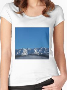 Queenstown in Winter ~ One Women's Fitted Scoop T-Shirt