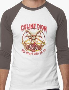 Celine Dion - Death Metal  Men's Baseball ¾ T-Shirt