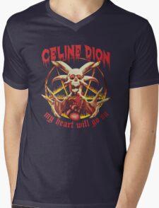 Celine Dion - Death Metal  Mens V-Neck T-Shirt