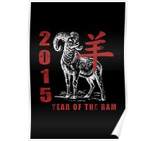 Chinese New Year of The Sheep Goat Ram Poster