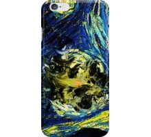 cat starry night iPhone Case/Skin