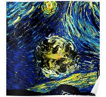 cat starry night Poster