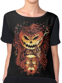 Pumpkin King Lord O Lanterns Chiffon Top