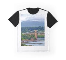 Snowdonia - seen from the Welsh village of Llanfairpwllgwyngyllgogerychwyrndrobwllllantysiliogogogoch, on the Island of Anglesey, Wales. Graphic T-Shirt