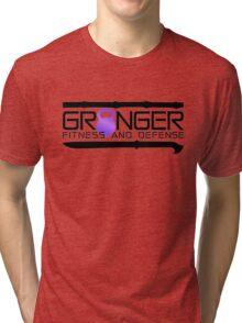 Purple Full Logo for Granger Fitness and Defense  Tri-blend T-Shirt
