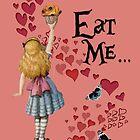 Alice in Wonderland,EAT ME Vintage Illustration by DictionaryArt