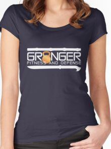 Classic Full Logo for Granger Fitness and Defense  Women's Fitted Scoop T-Shirt
