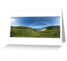 Kinnagoe Bay Panorama Greeting Card