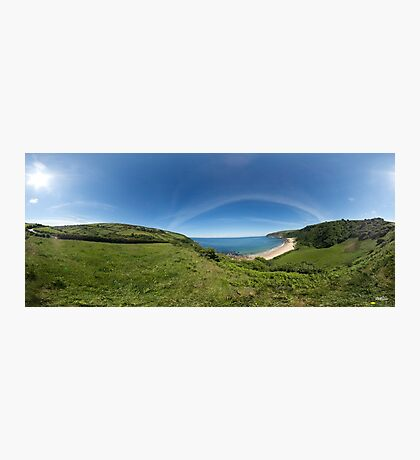 Kinnagoe Bay Panorama Photographic Print