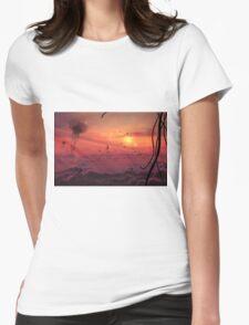 Aquarium Cloudscape Womens Fitted T-Shirt