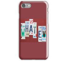 what · ev | what evs | what ever iPhone Case/Skin