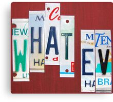 what · ev | what evs | what ever Canvas Print