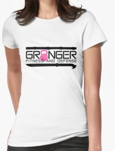 Pink Full Logo for Granger Fitness and Defense  Womens Fitted T-Shirt