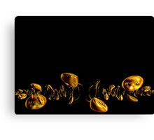 Gold and Black Canvas Print